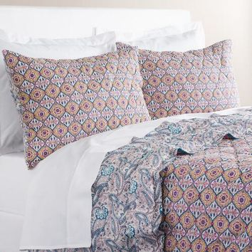 Alma Ogee Reversible Purple and Blue Quilt