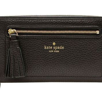 ONETOW Kate Spade New York Chester Street Neda Pebbled Leather Zip Around Wallet