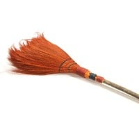 Halloween CROOKED WITCH BROOM Wood Gallerie II Fgh72902 Orange