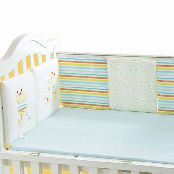 6Pcs/Lot Baby Bed Bumper Baby Room Decor Safety Baby Crib Protector Newborn Infant Kids Bed Cot Bumper Toddler Bedding