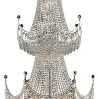 Taillefer - Large Hanging Fixture (36 Light Modern Grand Crystal Chandelier) - 7607G36