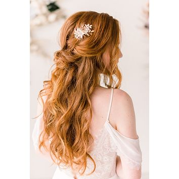 Golden Branch floral headpiece - style 4006 - Ready to ship