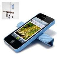 Magnetic Adsorption Mobile Shell Protective Cover Multifunctional Folding Holder Back Case Headphone Bobbin Winder for iPhone 5 Blue: Amazon.ca: Electronics