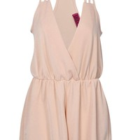 Alena Strappy Wrap Front Playsuit