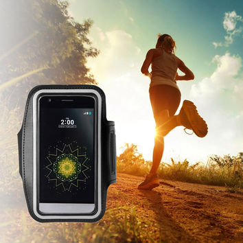 Malloom 2016 Armband Gym Running Sport Arm Band Case Cover for 5.8 inch Cell phones Universal mannen Armbanden For LG G5 #J22