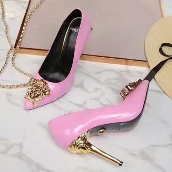 Versace Women Fashion Casual Pointed Toe High Heels Shoes-11