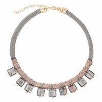 Square Facet Wrap Collar - Grey