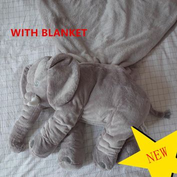Brand Upgraded Elephant Super Soft Children Baby pillow Calm Doll Toy Baby Bed Crib Seat Warm Kids Portable Bed Room Bedding set
