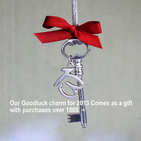 New Year 2013 Good luck charm. It comes as a gift with purchases over 100 us dol