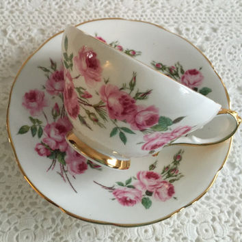 "Sutherland China Tea cup and Saucer ""Bridesmaid Rose"" Teacup Set"