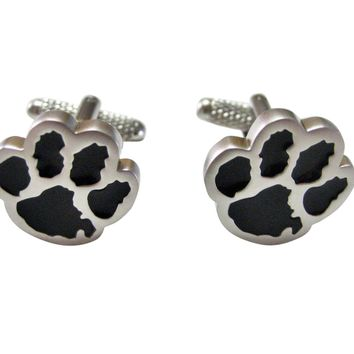 Black Animal Paw Track Cufflinks