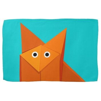 Bright Cute Origami Fox Towel