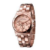 MJ Marc BY Marc Jacobs passion ,deep feeling,shiny, fashion watch L-PS-XSDZBSH Wine red