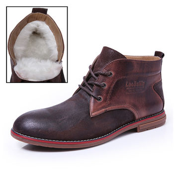 Cow Leather Martin Boots Men