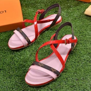 Louis Vuitton Women Fashion Casual Sandals Shoes
