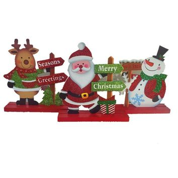 Christmas Santa Claus Snowman Dolls Standing Navidad Figurine Christmas tree Ornaments Kids Christmas Gifts Toy Decor