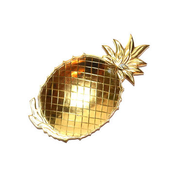 Brass Pineapple Tray Pineapple Dish Brass Pineapple Dish Serving Dish Pineapple Decor home decor pineapples pineapple ananas gold pineapple