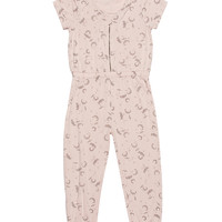 Kardashian Kids Knit Printed Jumpsuit with Exposed Zipper -