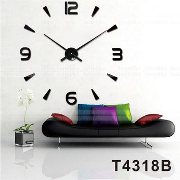 New Arrival Wall Clocks Modern Style Wall Watch Sticker Acrylic 3D DIY Clock Home Decor Wall Sticker Living Room Decorative