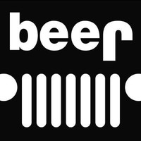 "Jeep Funny Beer Sticker Decal Notebook Car Laptop 6"" (White)"