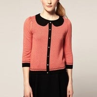 Seven Points Sleeve Cotton Knit Sweater
