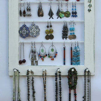 Jewelry Display Organizer shabby chic Cream