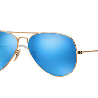 Ray-Ban AVIATOR FLASH LENSES Gold, Polarized Lenses - RB3025 | Ray-Ban® USA