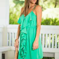Dainty Detour Dress, Green