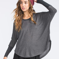 MIMI CHICA Dolman Womens Hi Low Thermal 247195100 | Raglans & L/S Tees