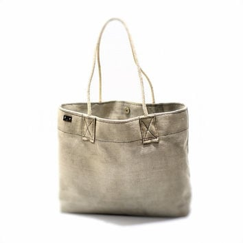 Canvas bag with rope handles, tote bag, grocery shopper