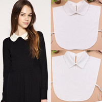 New autumn white detachable bib collars women false blouse collar clothing accessories peter pan collars pointed collar