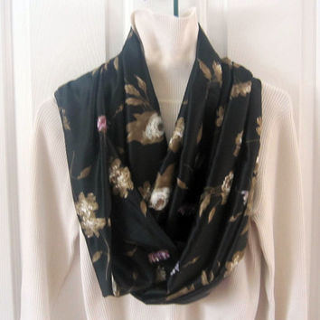 Infinity scarf circle scarf in gorgeous browns by sewinggranny