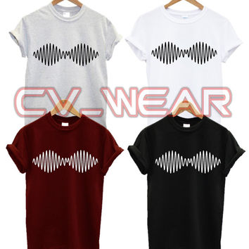 arctic monkeys t shirt wave logo pitchfork  soundwave swag dope fashion hipster tumblr trend music womens fresh hype new album tour unisex