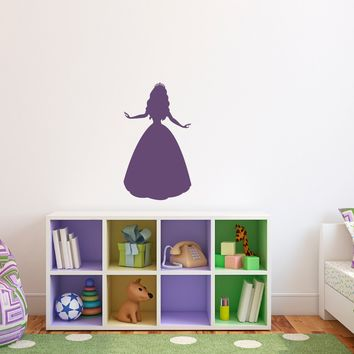 Princess Wall Decal - Girl Bedroom Wall Sticker - Children Wall Decals - Medium