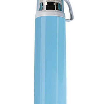 Stainless Steel Thermos Water Bottle with a Handle Vacuum Insulated Cup for Hot and Cold Drinks Coffee,Tea Travel Thermal Mug,18oz (Blue)