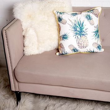 Pineapple Print Pillow