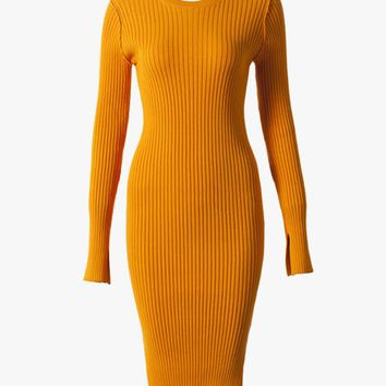 Stretch-Knit Sweater Dress