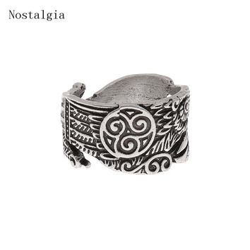 Viking Ravens Rings Celtics Symber Triskele Ring Scandinavian Norse Odin Crow Ring Charm Retro Rings Knot Anel Bague Men Jewelry