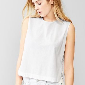 Gap Women Seersucker Sleeveless Top