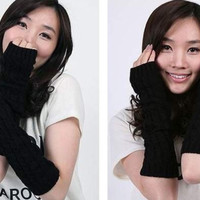 Fingerless Knitted Gloves