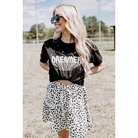 Dreamer With Stars Graphic Tee, Black