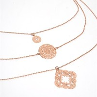 Filigree Layered Necklace
