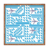 Vy La Airplanes And Triangles Square Tray