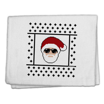 "Cool Santa Christmas Sweater 11""x18"" Dish Fingertip Towel"
