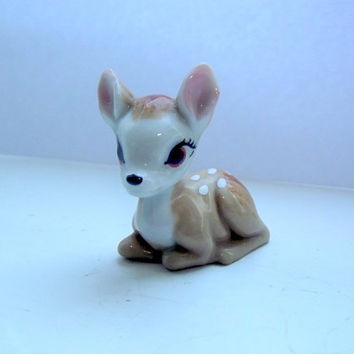 vintage english decor wade disney bambi deer fawn home kids room whimsie uk baby