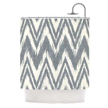 "Heidi Jennings ""Tribal Chevron Gray"" Shower Curtain"