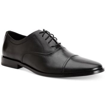 CREYON CALVIN KLEIN MENS NINO CAP-TOE OXFORDS