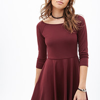 Scoop Neck Fit & Flare Dress