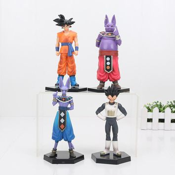Dragon Ball Z Figures Goku Champa Beerus Vegeta PVC Anime Dragon ball Z Action Figures Model Toys Dragon 2pcs/set