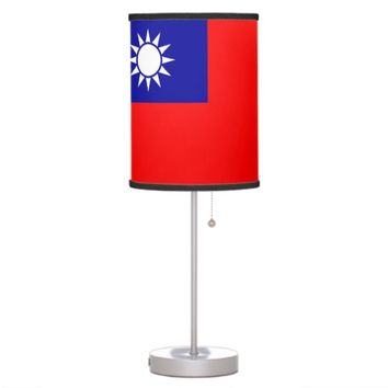 Patriotic table lamp with Flag of Taiwan